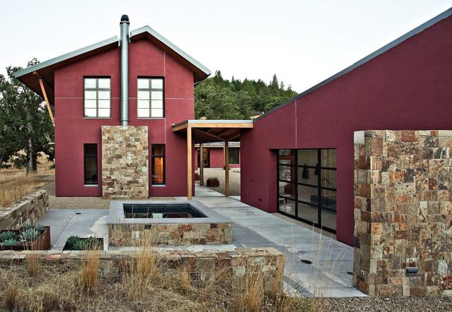 Willits compound contemporary exterior san francisco for Compound garden designs