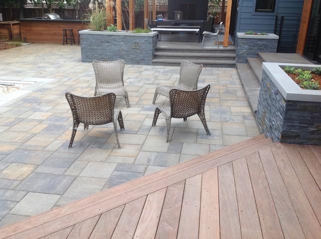Delightful Willow Glen Terra Bella, Paver Patio And Wood Deck Modern Exterior