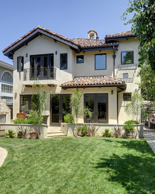 Willow glen spanish style house mediterranean exterior for Spanish style interior shutters