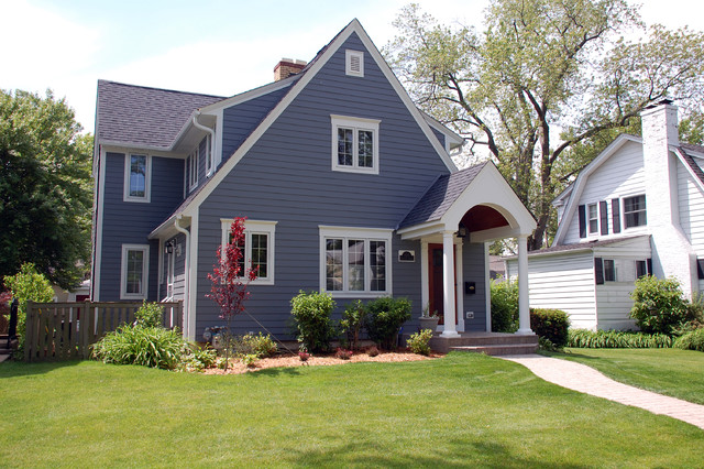Wilmette IL Cape Cod Style Home In James Hardie Custom