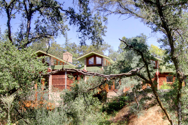 Winding Way - Complete makeover of a modern Craftsman contemporary-exterior