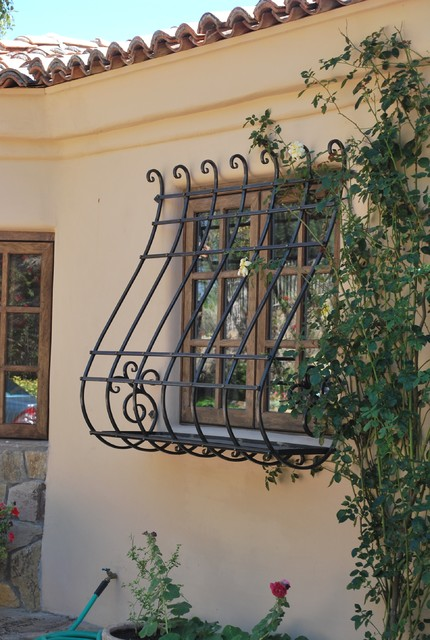 Window Guard with Planter Box traditional-exterior