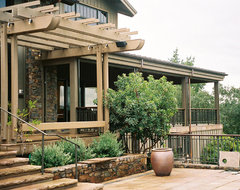 Wine Country Living rustic-exterior