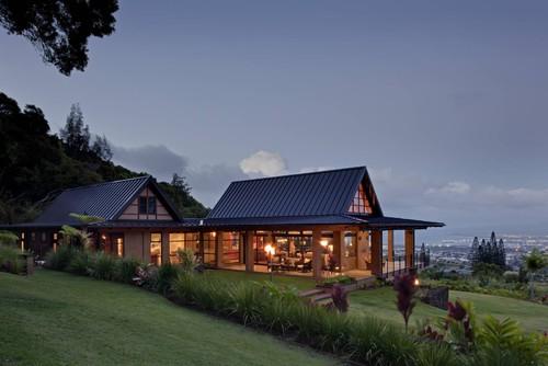 แปลนแบบบ้านชั้นครึ่ง 07 Hawaii Wing Style (Pic)