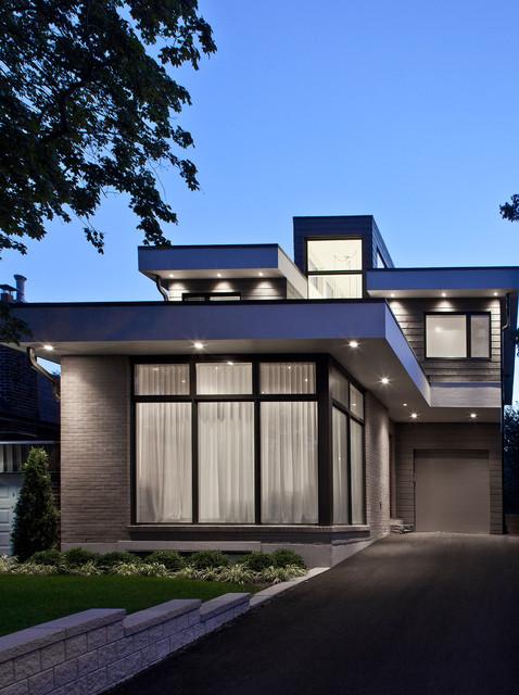 Modern Flat House Design: Contemporary