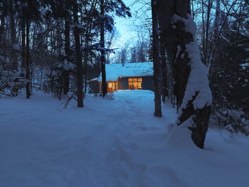 Winter Cabin eclectic exterior