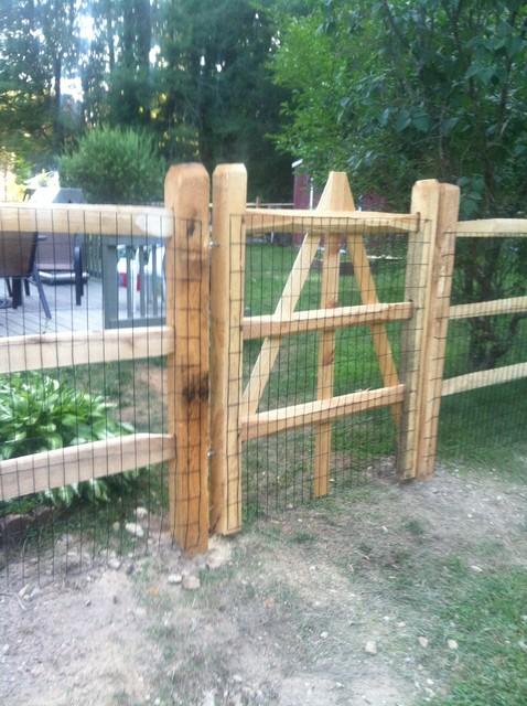 Wolcott Rustic Split Rail Fence Rustic Exterior New