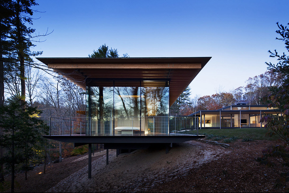 Example of a minimalist exterior home design in New York