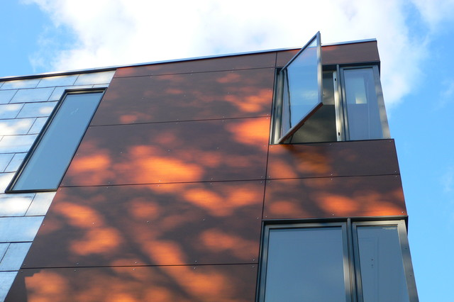 Wood Composite Panel Rainscreen Siding Modern Exterior Boston By Studiohw Heather Weiss