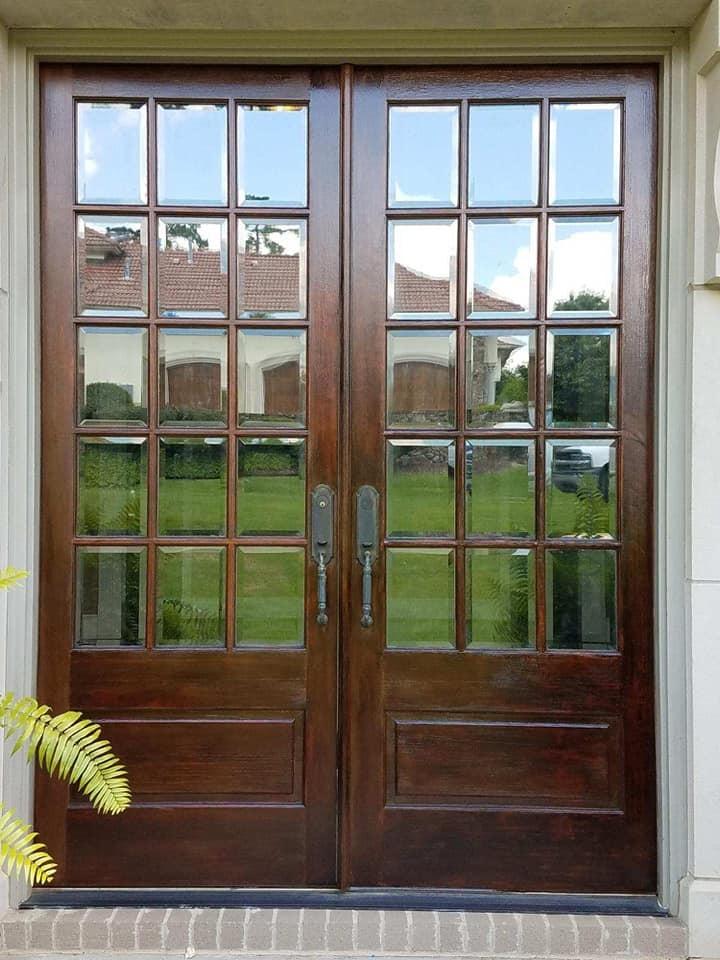 Wood door refinish