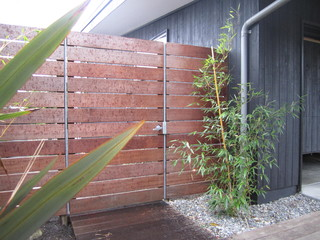 Wood Fence Modern Exterior Seattle By Brownwork