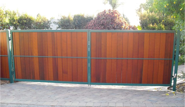 Wood Gate Tropical Exterior San Diego By Palatin Remodeling
