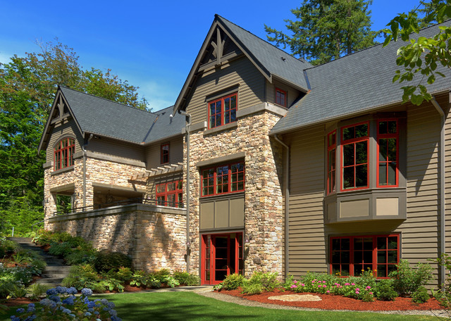 wooded highlands by design guild homes craftsman exterior - Design Guild Homes