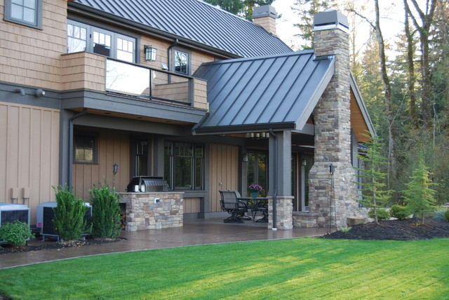 Woodinville Magnificent North West Lodge Home traditional-exterior