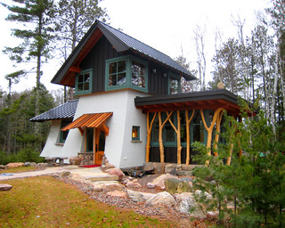 Woodland Cottage Eclectic Exterior Minneapolis By