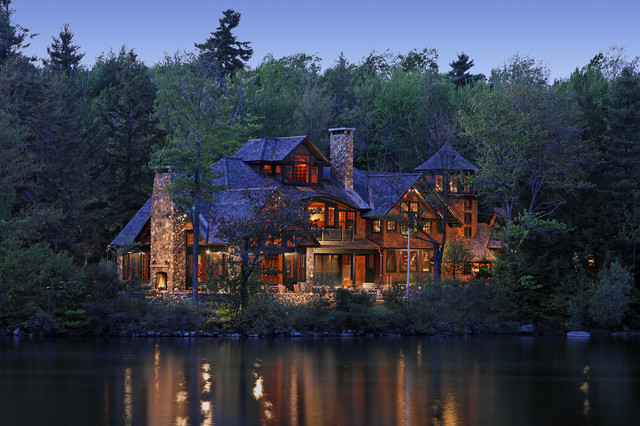 Woodland Point Main House rustic-exterior