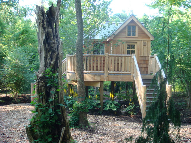 Woodland Tree House eclectic-exterior