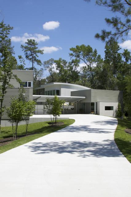 Woodlands Modern House contemporary-exterior