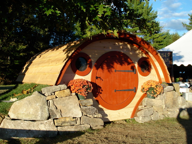 Woodshire hobbit hole playhouse eclectic exterior for How to build a hobbit hole playhouse