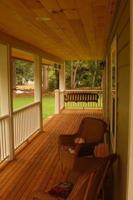 Wrap around Porch traditional exterior