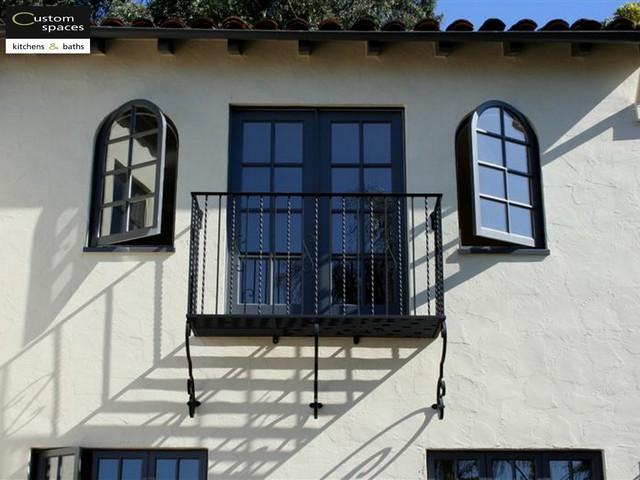Wrought Iron Balcony Mediterranean Exterior San