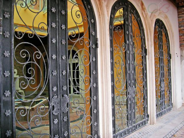 Wrought iron doors traditional-exterior