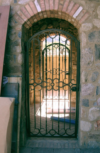 Wrought Iron Walk Gate Mediterranean Exterior Phoenix