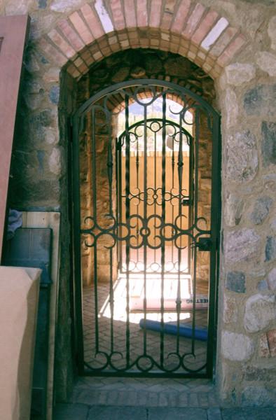 Wrought Iron Walk Gate mediterranean-exterior