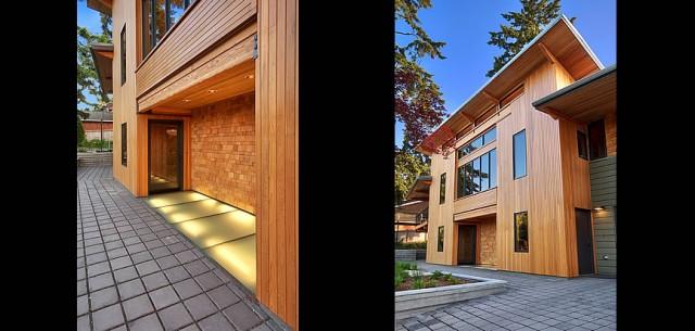 Yarrow Point - Northwest Modern Exterior with Cedar Siding - Modern