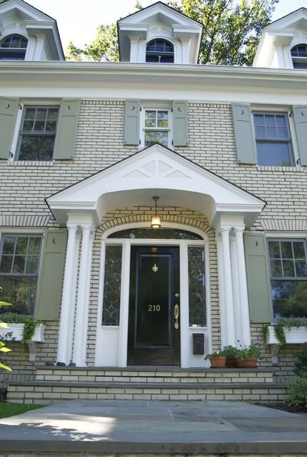 Yellow Brick Colonial Exterior Modern Exterior New