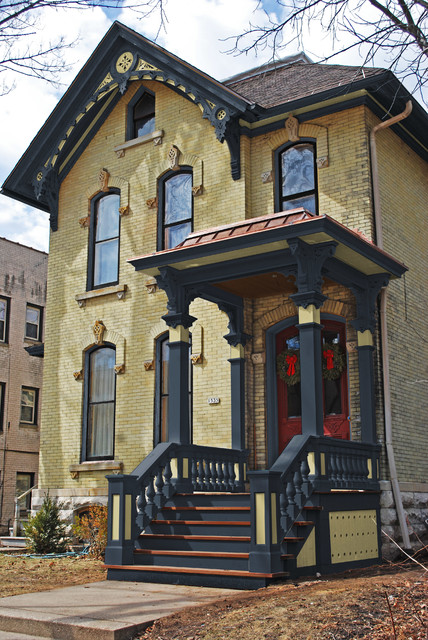 Yellow Brick Italianate Victorian Exterior New York