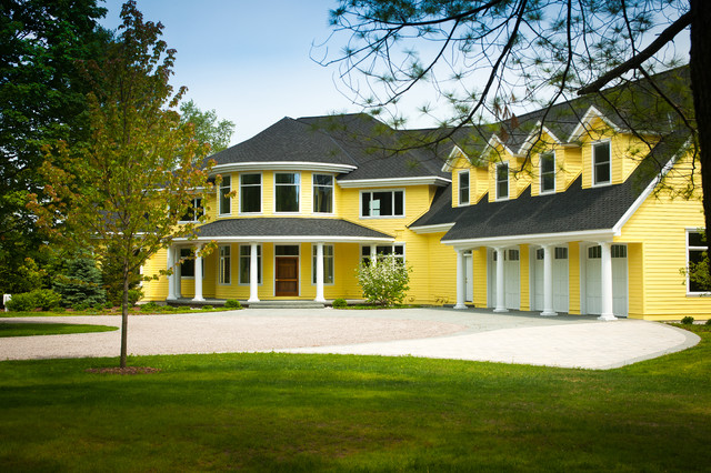 Inspiration for a timeless exterior home remodel in Other & Yellow House - Traditional - Exterior - Other - by Widing Custom Homes