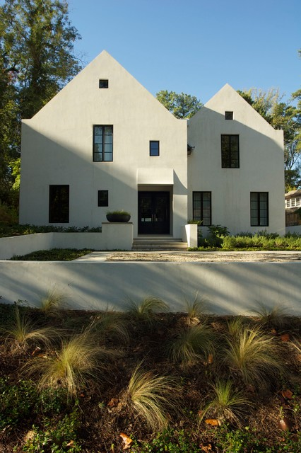 Zen pool and garden transitional exterior atlanta for Zen pool design