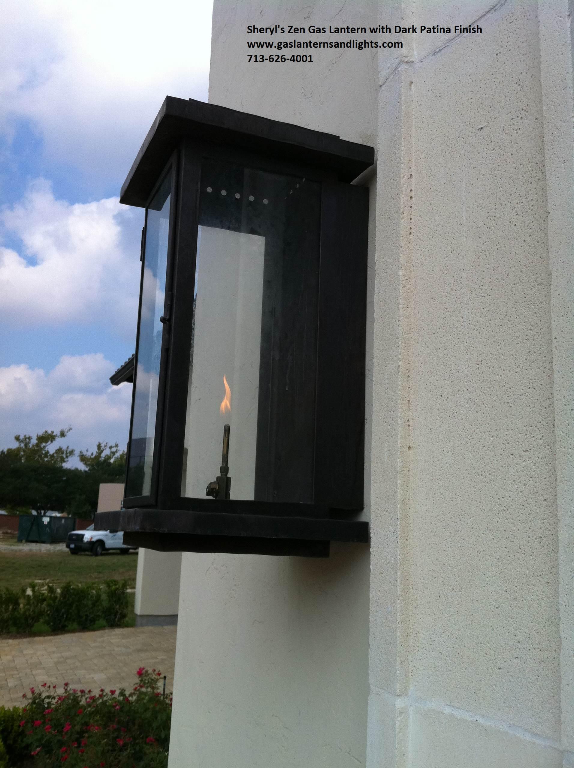 Zen Transitional  Gas Lanterns, Modern Gas Lights