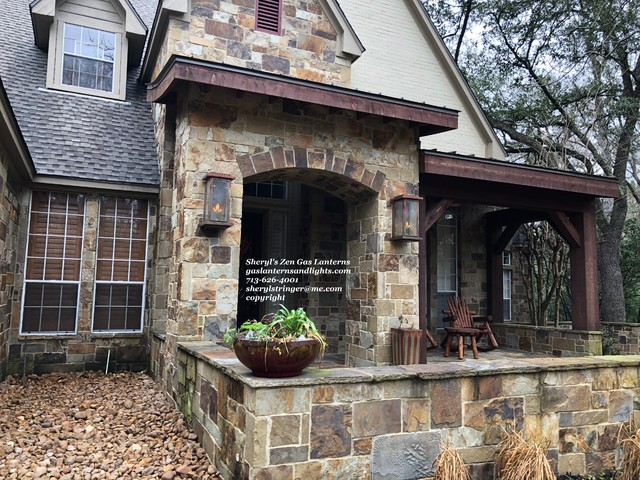 Mountain style exterior home photo in Houston