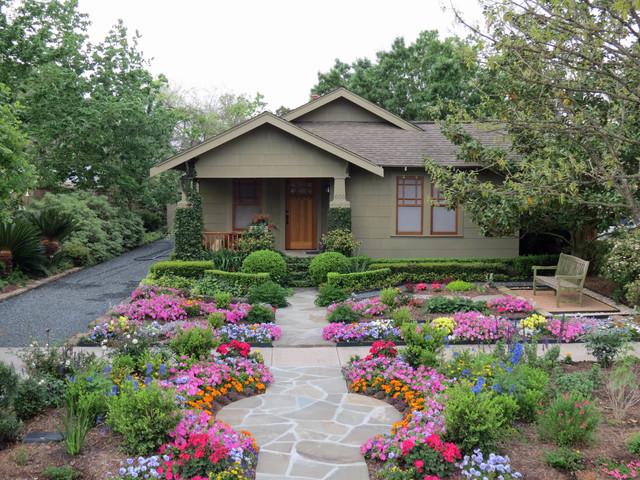 Zero Lawn Xeriscape Traditional Exterior Houston by David