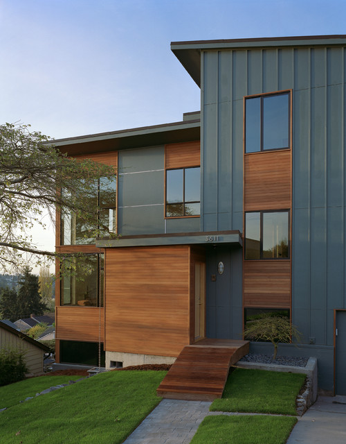 zipper house contemporary exterior
