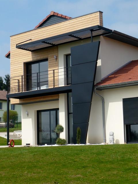 Supérieur Facades De Maisons Contemporaines #14: 07-16- Maison Contemporaine Vosges Traditional-exterior