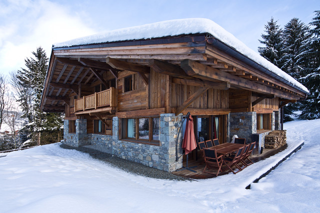 Chalet megeve montagne fa ade paris par patrick for Decoration maison montagne