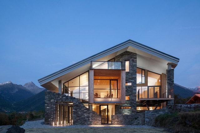 Chalet Mineral Lodge - Rustic - Exterior - Angers - by Concrete LCDA