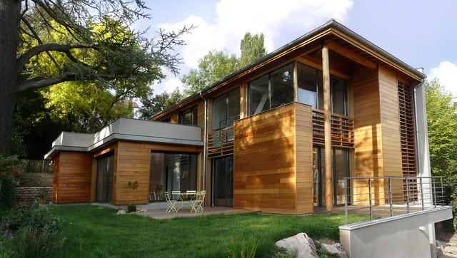 Construction d 39 une villa ossature bois for Villa ossature bois