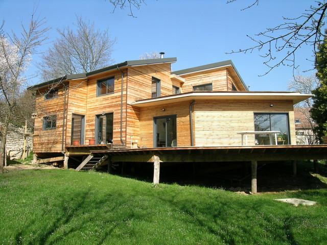Construction de maison ossature bois à Dijon (21)