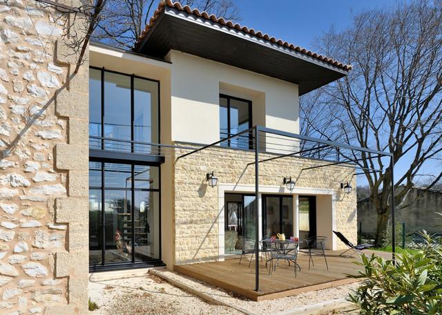 Extension d 39 une maison existante contemporain fa ade for Refection de facade maison