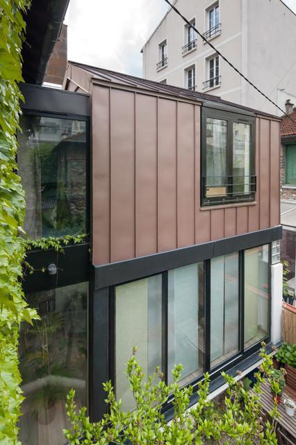 extension de maison de ville modern exterior by doda