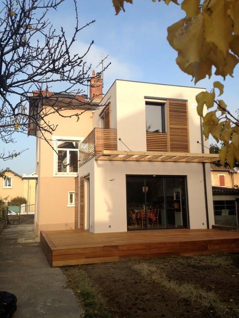 Extension de maison - ossature bois / Lyon contemporary ...
