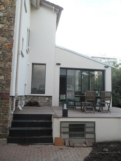 extension maison antony contemporain fa ade paris par archi kub. Black Bedroom Furniture Sets. Home Design Ideas