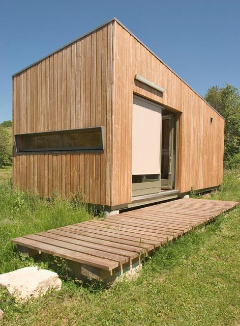 Habitat minimal contemporain fa ade dijon par for Habitat contemporain