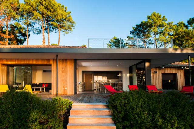 Maison au pyla - Maison bois bord de mer ...