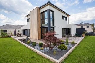 Maison bois contemporaine yutz contemporain fa ade for Carrelage yutz