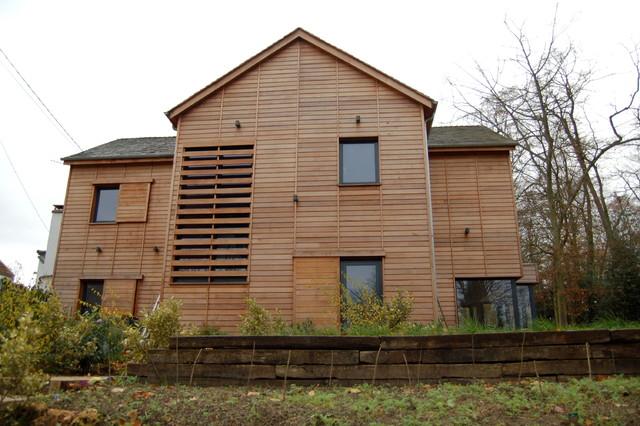 Maison bois contemporaine contemporain fa ade paris for Facade maison bois contemporaine